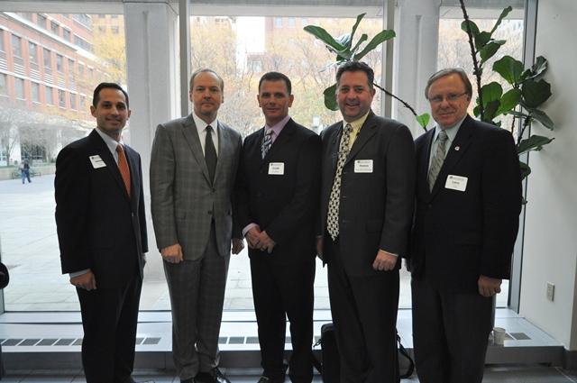 DOB Commissioner Chandler with NYSSPE Leaders (ref: DOB/Samantha Modell)
