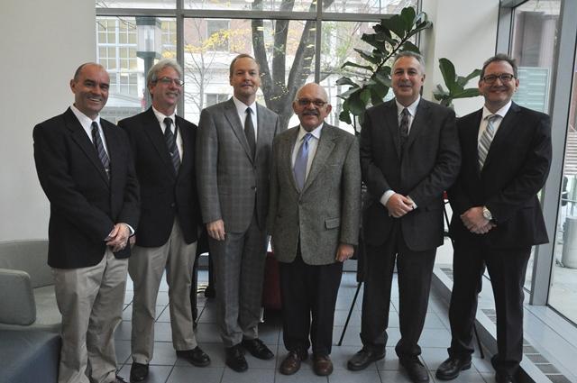 DOB Commissioner Chandler with other DOB Speakers (ref: DOB/Samantha Modell)