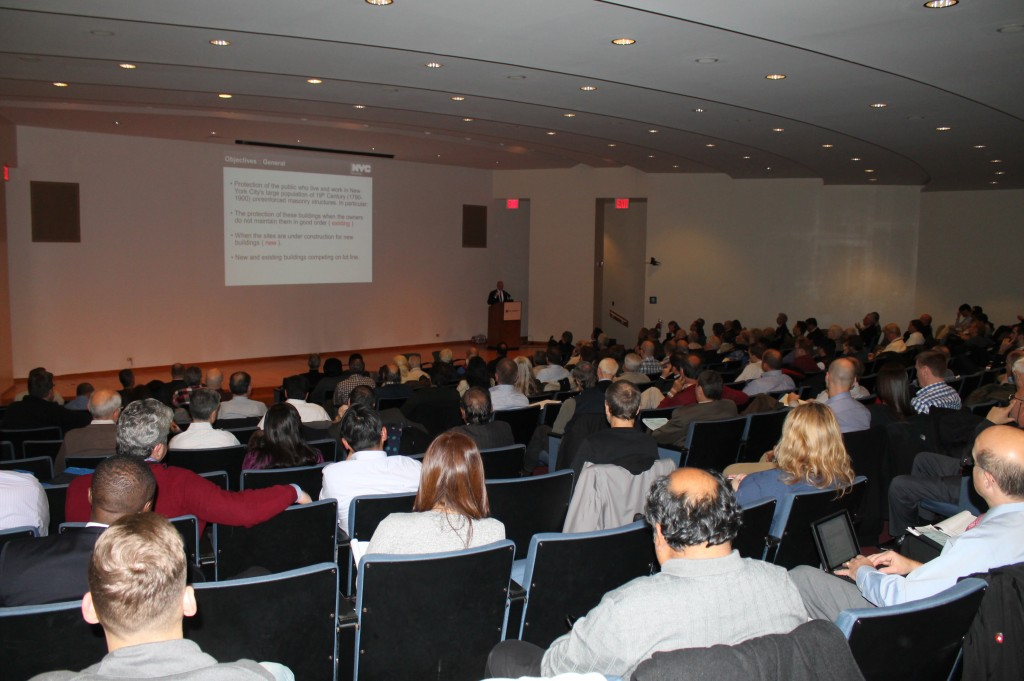 Design Professionals filled the Pfizer Auditorium at NYU-Poly