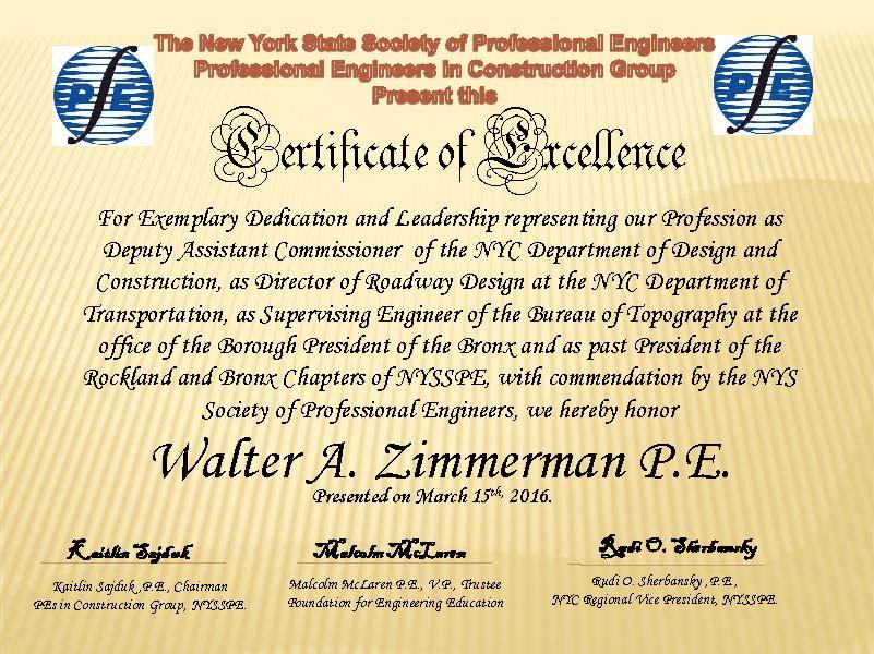 Awards-Certificate - Walter Zimmerman - Online version